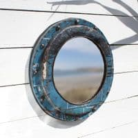 Porthole Cabin Wall Mirror | Recycled Steel Drum Mirror